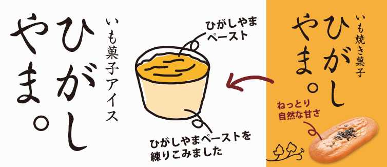 ひがしやまアイス 手書きイラスト