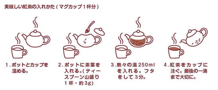 紅茶の入れ方イラスト