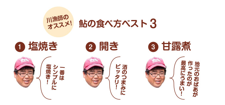 鮎の食べ方ベスト3