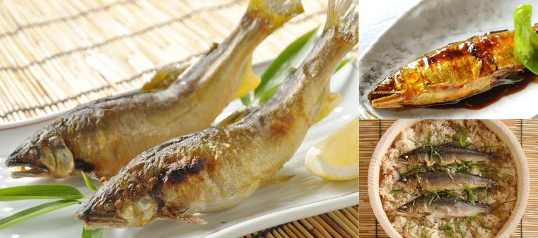 鮎 料理 3種類