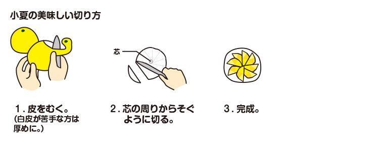 小夏の食べ方図解